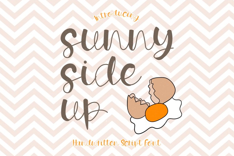 Sunny Side Up - A Playful Handwritten Script Font example image 1