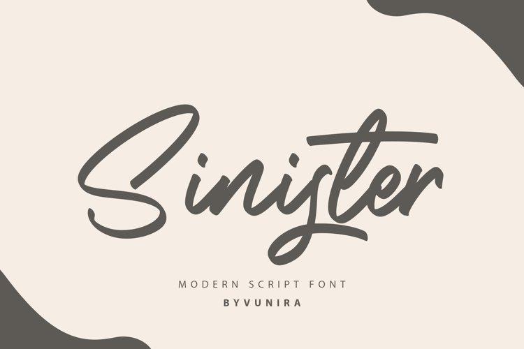 Sinister   Modern Script Font example image 1