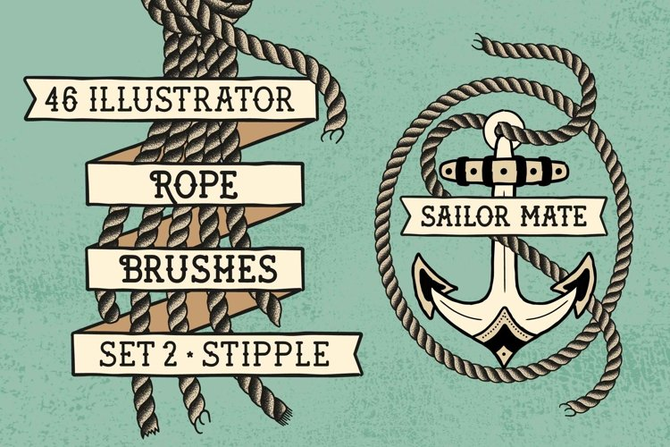 Sailor Mate's Rope Brushes II - Stipple example image 1