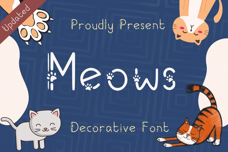 Meows Font example image 1