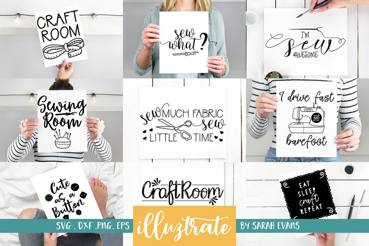 Sewing and Crafters Bundle SVG Cut Files example image 1