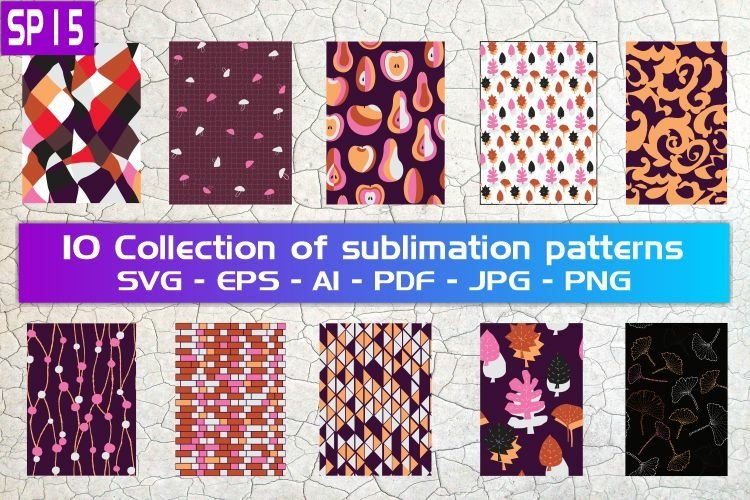 SP15, 10 Collection of sublimation patterns
