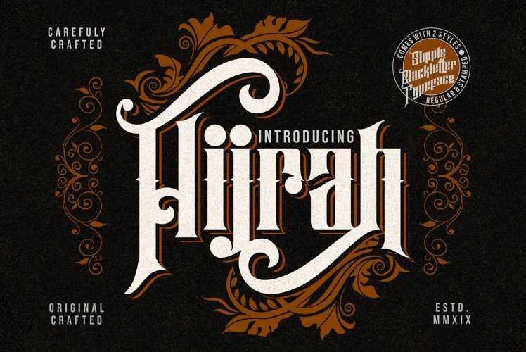 Hijrah - Blackletter Typeface example image 1
