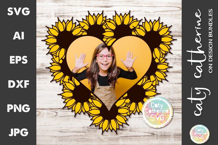 Download Sunflower Love Heart Frame Svg Cut File 1083410 Cut Files Design Bundles