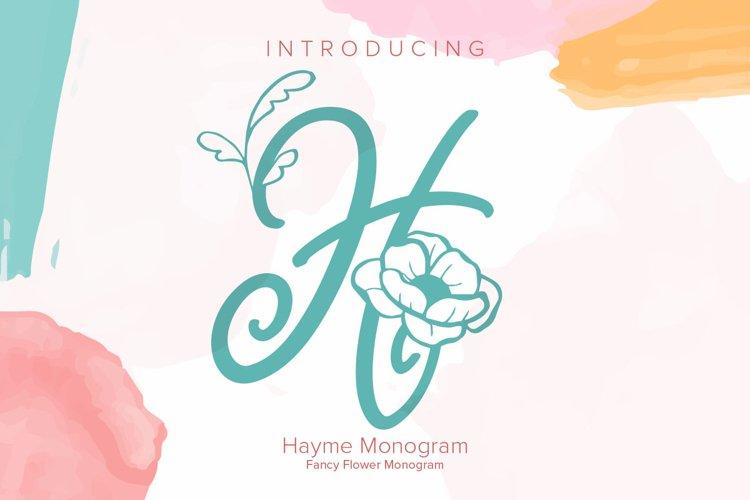 Hayme Monogram example image 1