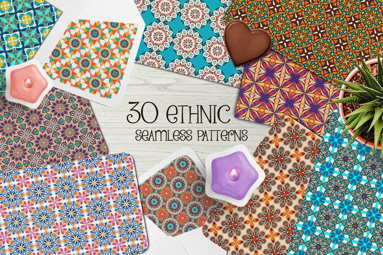 Ethnic seamless pattern collection example image 1