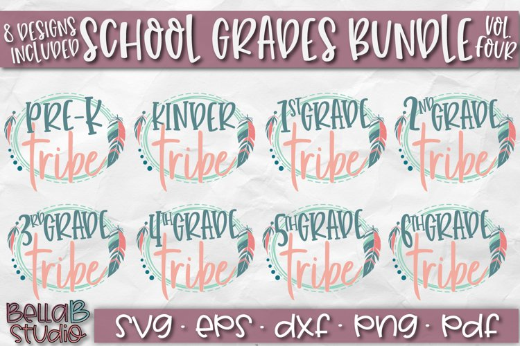 School Grades SVG Bundle, Back To School SVG Bundle, Tribal