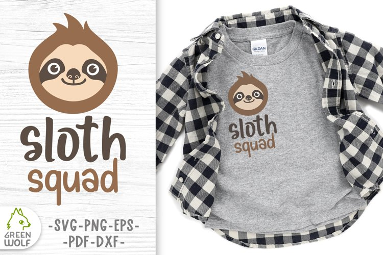 Sloth svg file for cricut Funny sloth quotes svg Sloth squad
