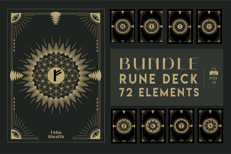 Ancient Scandinavian rune deck BUNDLE