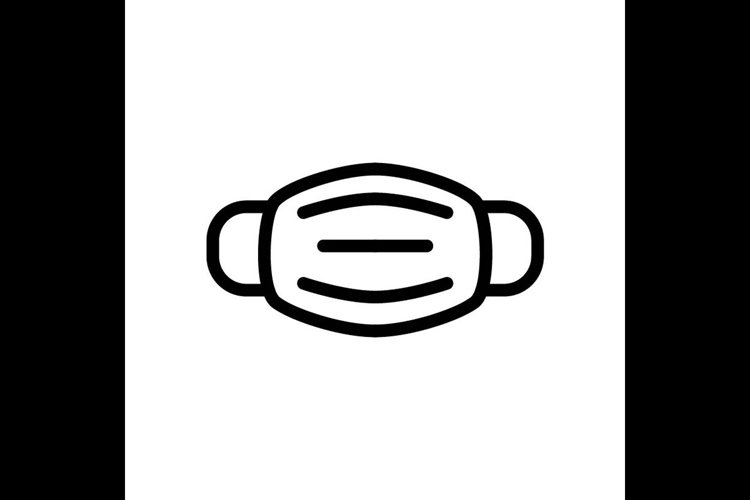 mask symbol line icon, Vector Illustration example image 1