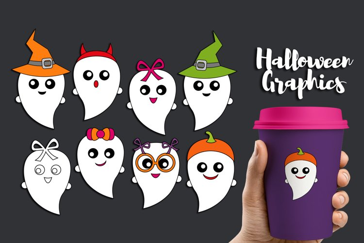 Halloween ghost clipart graphic illustrations