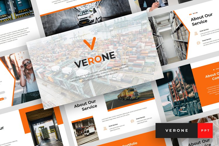 Verone - Logistics & Transport PowerPoint Template example image 1