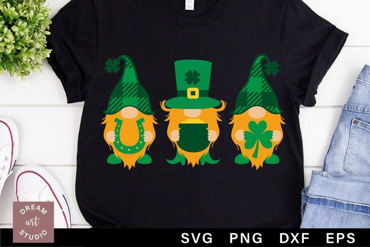St patricks gnomes svg png cut file Irish svg Leprechaun svg