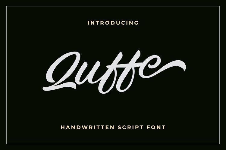 Quffe Handwritten Script Font example image 1