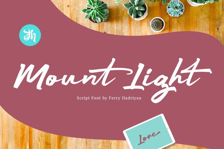 Mount Light - Script Font