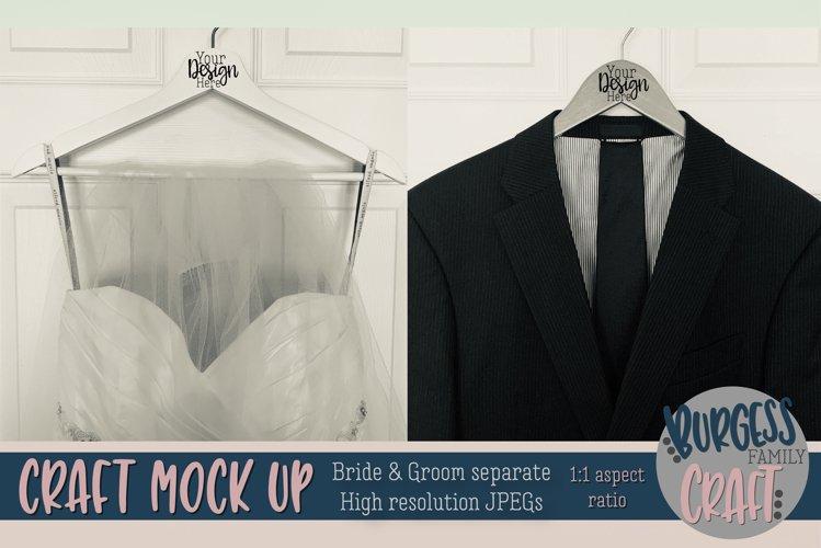 Bride & Groom hangers Craft mock up |High Resolution JPEG