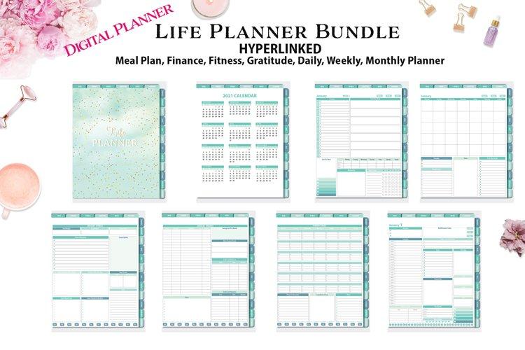 Life Planner Bundle Hyperlinked Digital Planner