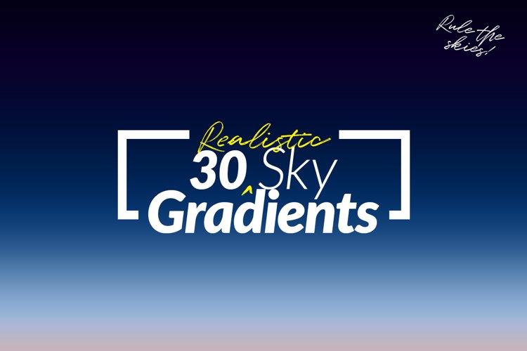 30 Realistic Sky Gradients for Photoshop & Illustrator
