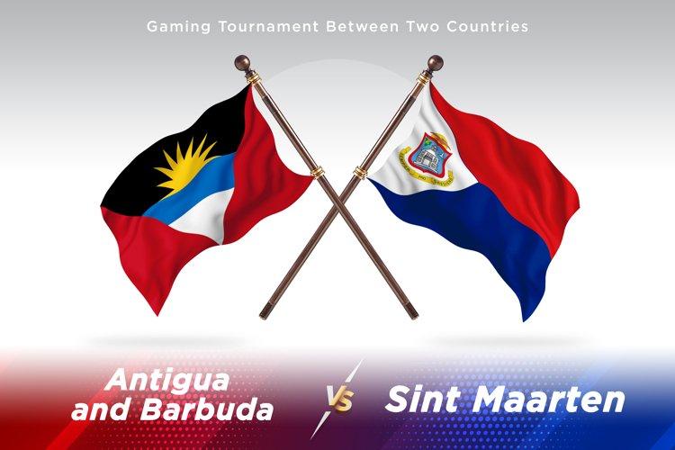 Antigua vs Sint Maarten Two Flags example image 1