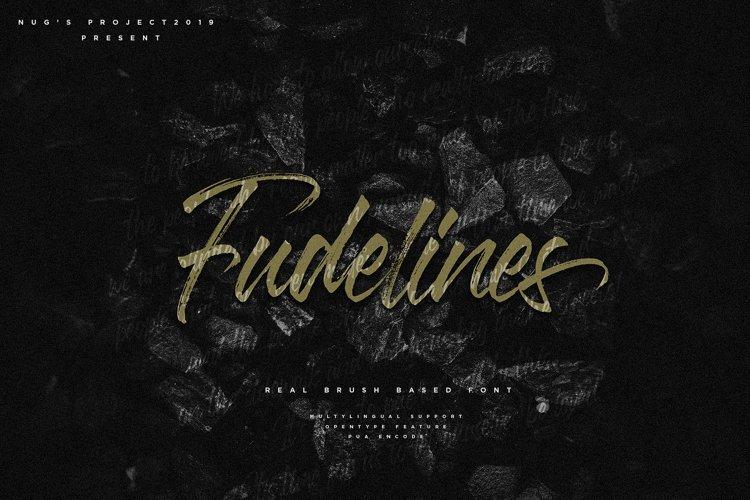 Fudelines Brush font example image 1