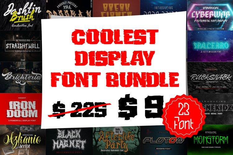 Coolest Display Font Bundles