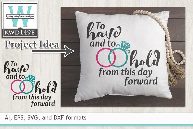Wedding SVG - Wedding Vows example image 1