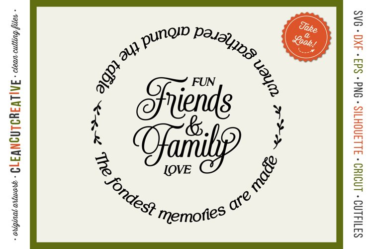 Thanksgiving SVG | Friends & Family memories gathered round example image 1