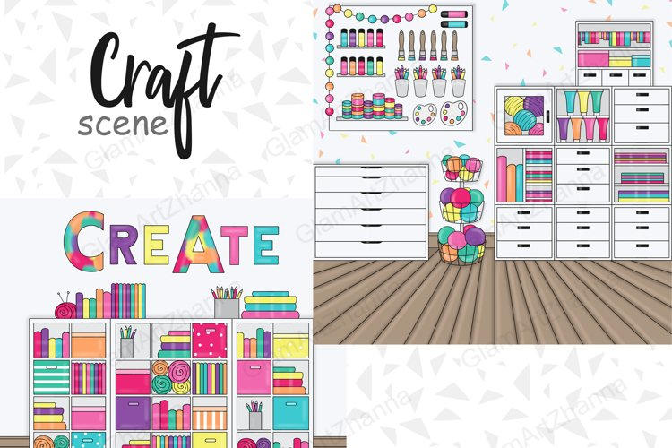 Craft SCENE Weekend Sticker Icon blogger Planner Items - PNG