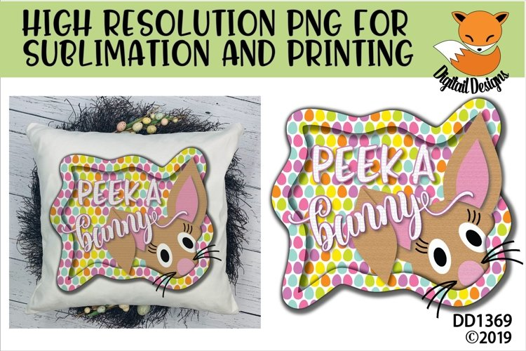 Peek A Boo Easter Bunny Sublimation example image 1
