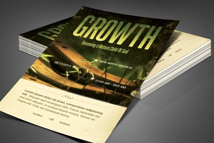Growth Church Flyer Template example image 1