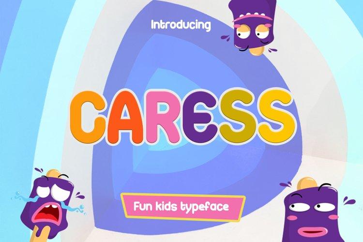 Caress - Fun Font example image 1