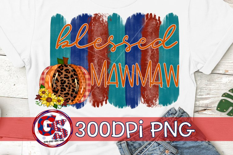 Blessed Mawmaw PNG for Sublimation | Fall PNG Autumn PNG example image 1