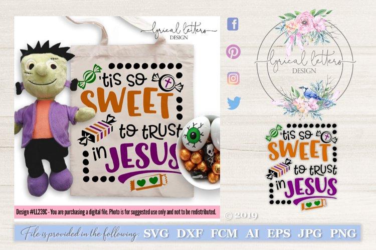 Tis So Sweet To Trust In Jesus Halloween SVG Cut File LL260B