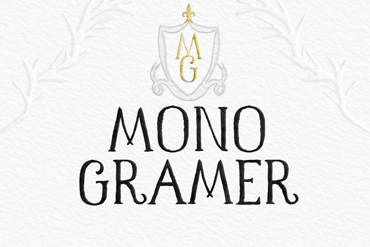 Monogramer. Classic Rustic Serif Font