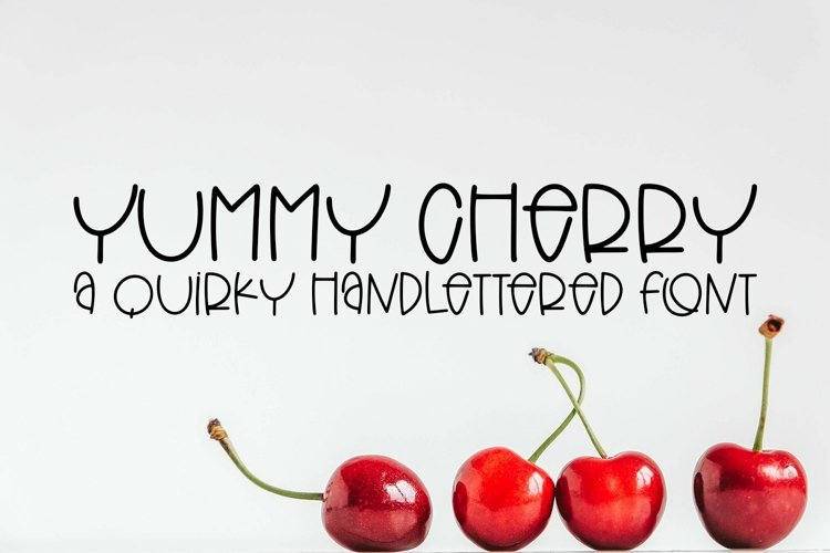 Web Font Yummy Cherry - A Quirky Hand-Lettered Font example image 1