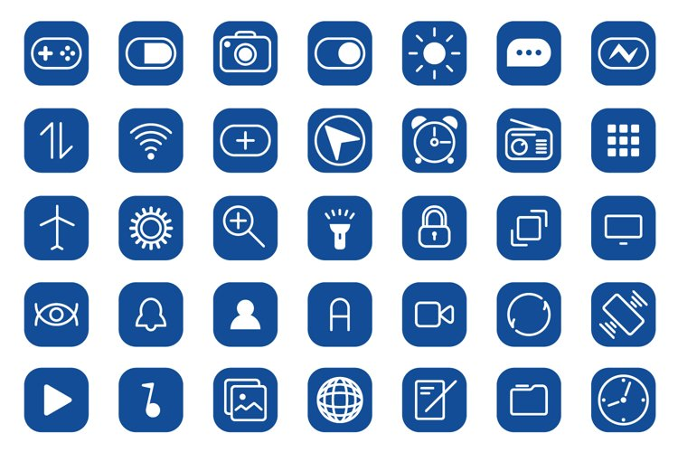 Mobile icons example