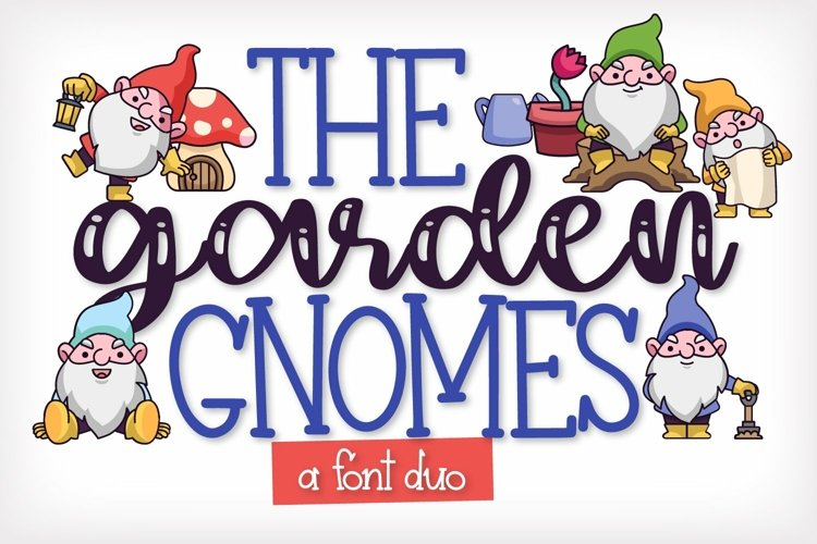 Web Font The Garden Gnomes - A Script & Print Duo example image 1