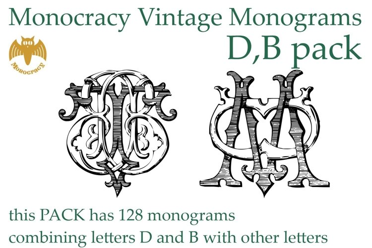 Monocracy Vintage Monograms Pack DB example image 1