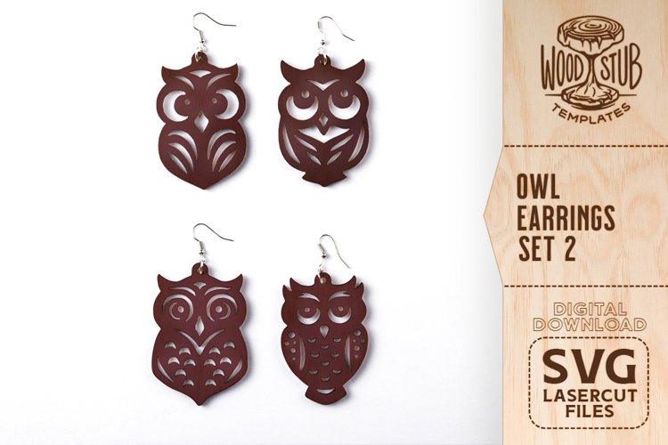 Owl Earrings SVG, Earrings SVG, Animal Earrings SVG, Owl SVG
