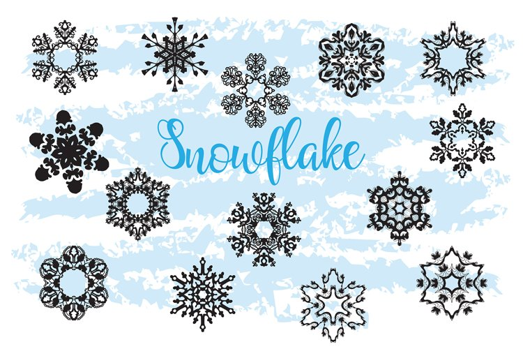 Christmas Decor Snowflake Clipart snowflake silhouette example 1