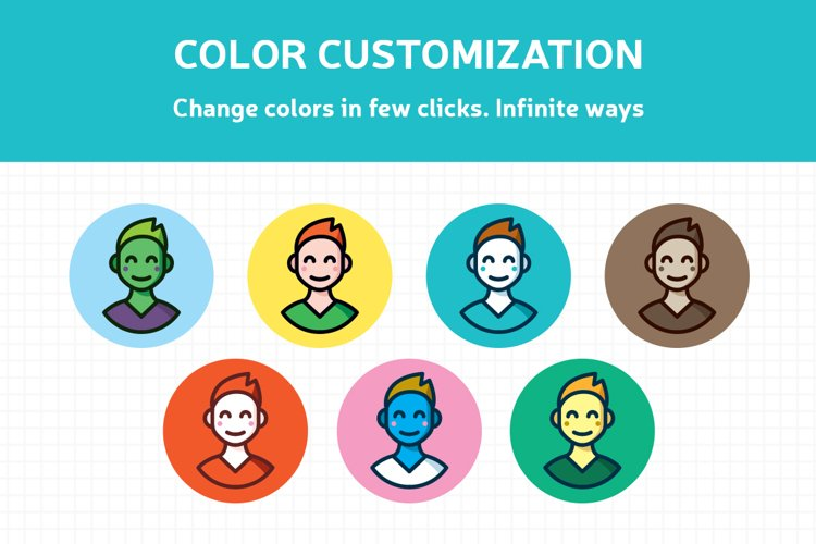 Customizable Outline Icons Set - Free Design of The Week Design2