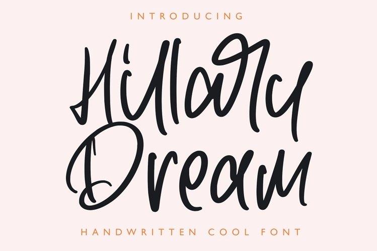 Hillary Dream - Handwritten Font example image 1