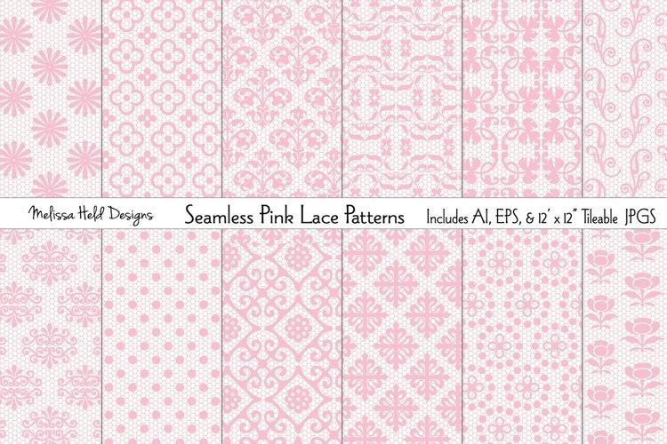Seamless Pink Lace Patterns