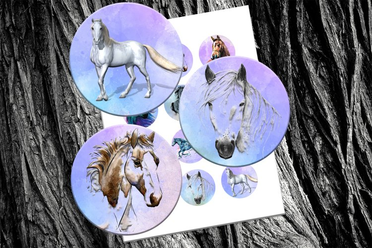 Horses, Watercolors, Illustrations, BLACK FRIDAY SALE, 50OFF example image 1