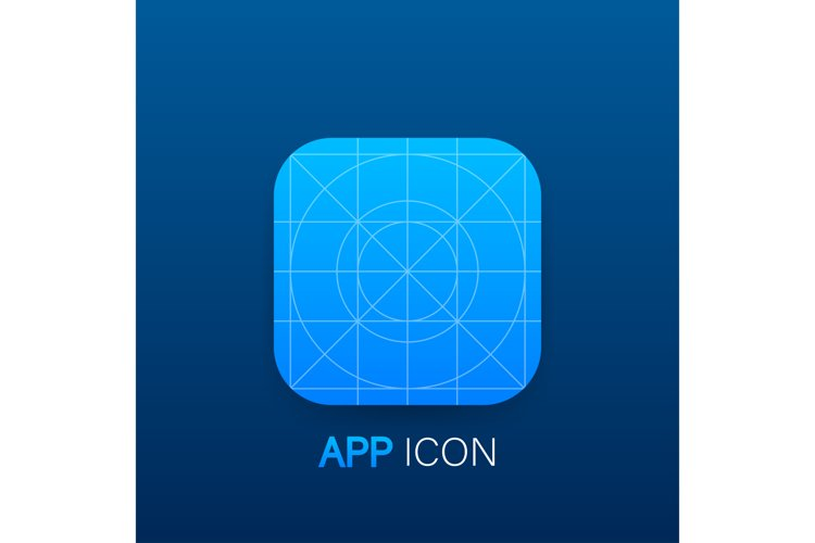Blank icon or button of the app for web and mobile systems. example image 1