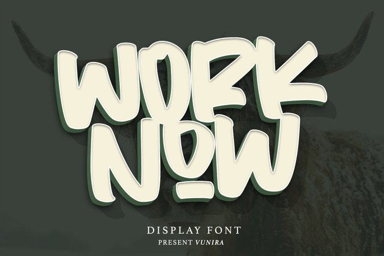 Worknow | Display Font example image 1