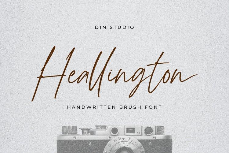 Heallington-Handwritten Brush Font example image 1