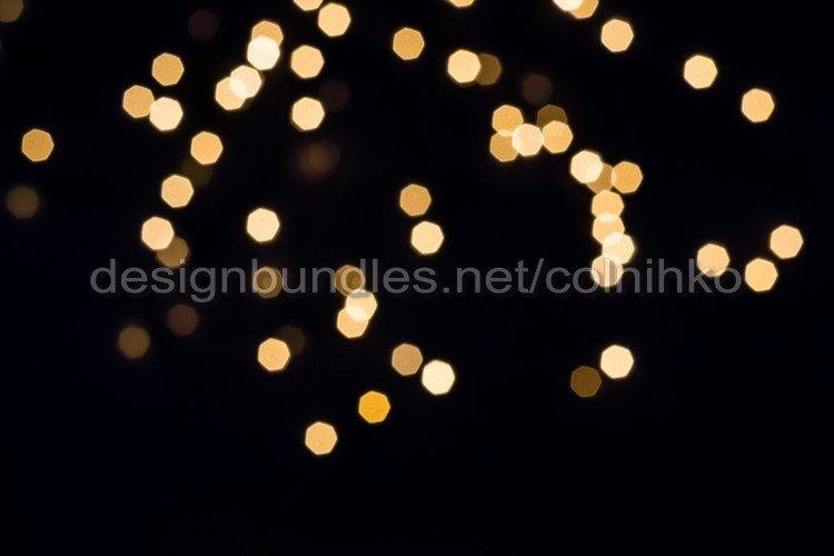 Golden bokeh lights example image 1
