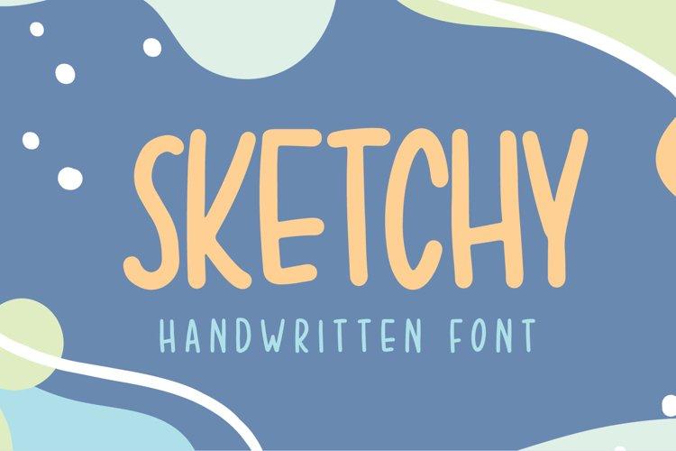 Sketchy - Handwriten Font example image 1