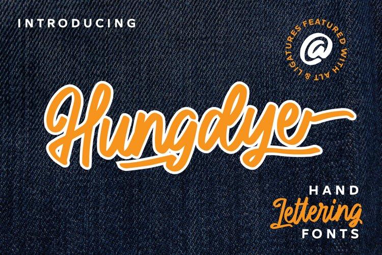 Hungdye - A Beautiful Script Font example image 1
